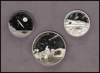 Meteorite legal tender coins