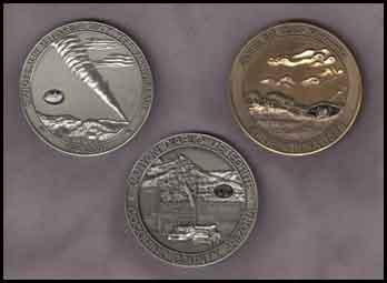 Meteorite commemerative medals
