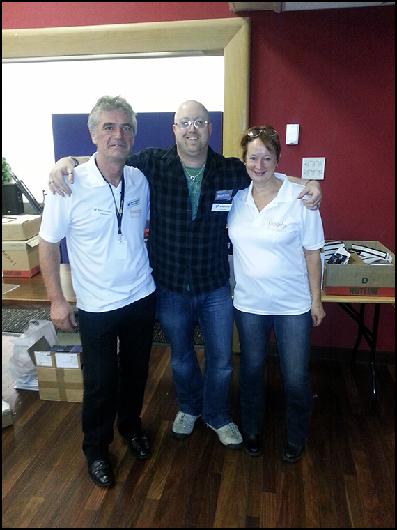 Me stood with Andrew and Sue Davies who pulled off an amazing inaugural event which will hopefully be the first of many! :-)