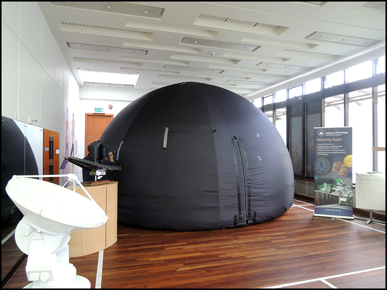 The 'Space dome' planetarium which was popular with visitors.