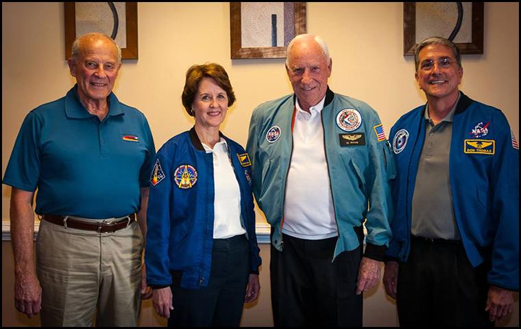 Jack Lousma, Kathy Thornton, Al Worden and Don Thomas. (Photo courtesy of Dave Wilkinson)