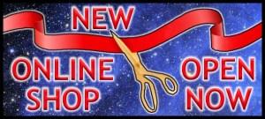 New shop open banner
