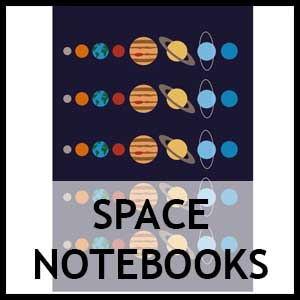 Space Themed Notebooks