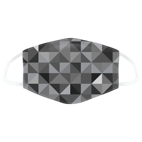 Mask geometric black grey 1