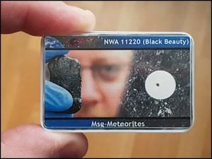 M black beauty martian meteorite nwa 112220 2