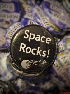 Badge space rocks 1