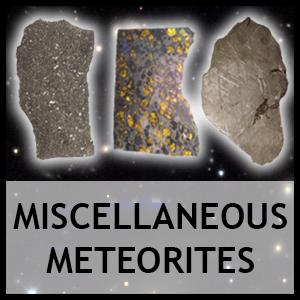 Miscellaneous meteorites