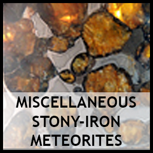 Miscellaneous stony iron meteorites