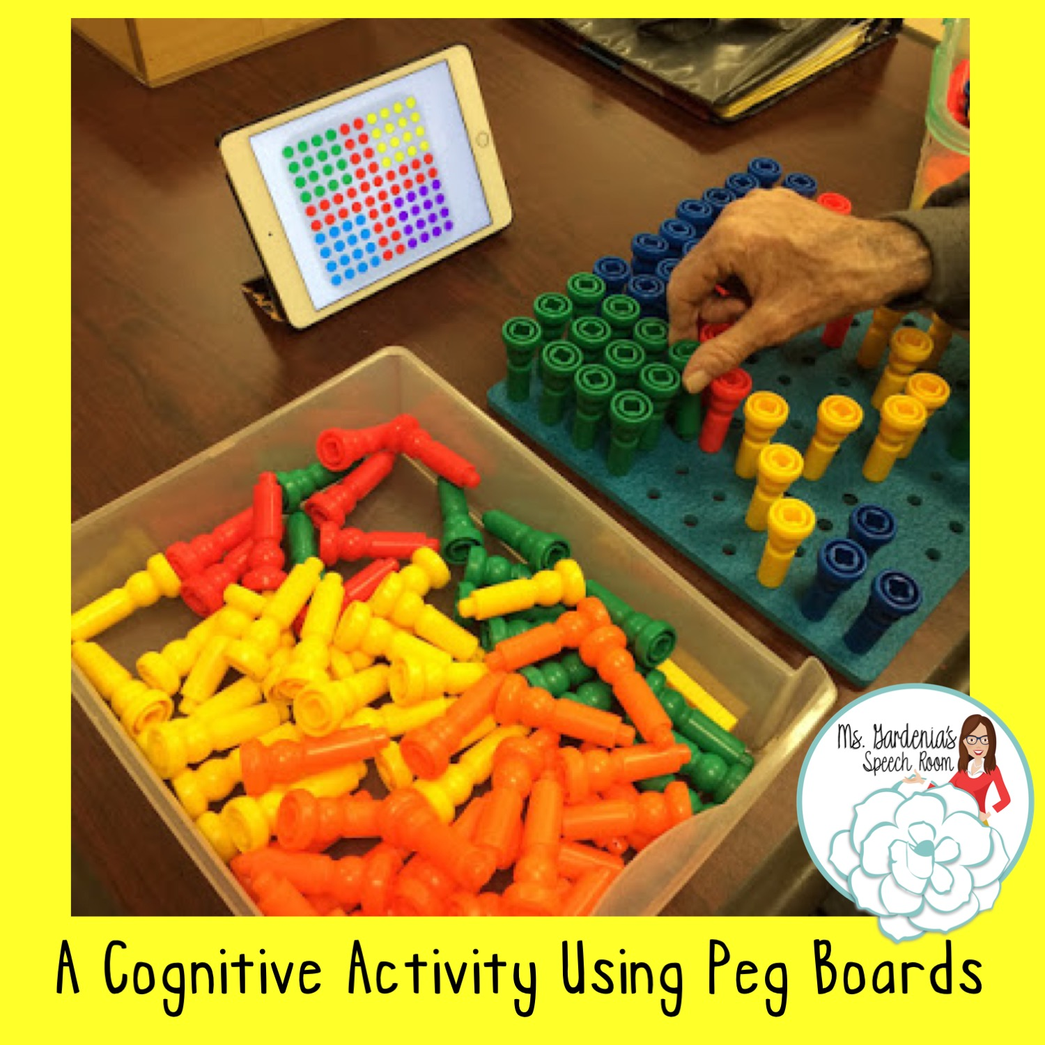 Cognitive Activity Using Peg Board For Speech Therapy In