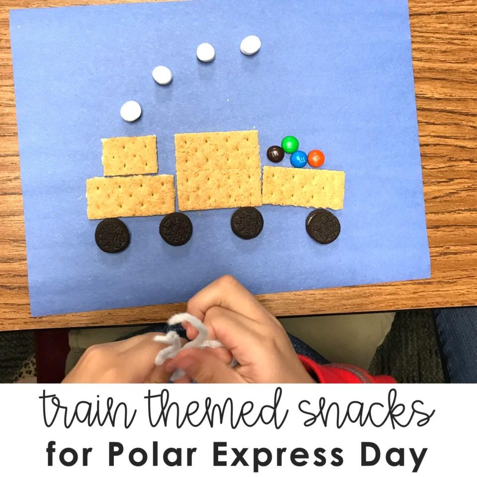 train themed snacks for Polar Express Day