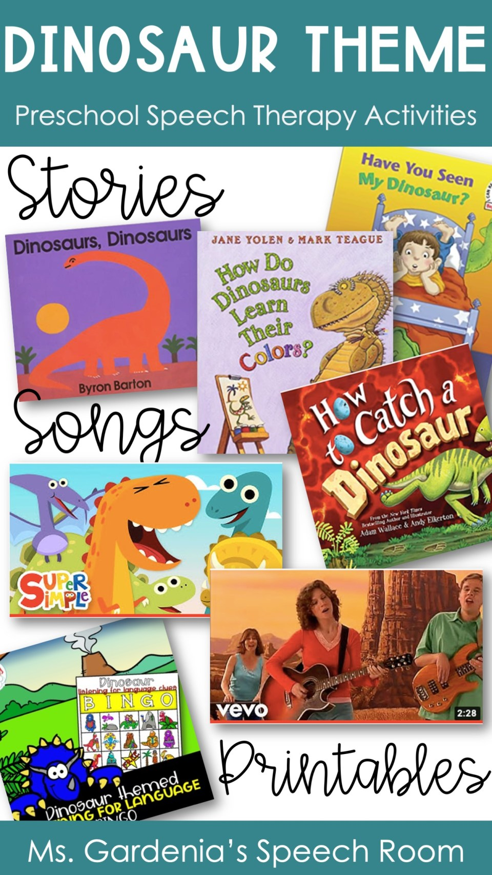 dinosaur theme activities for preschool including dinosaur music activities and dinosaur reading activities