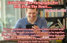 I Love You Paragraphs For Him