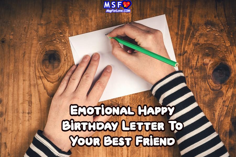 Happy Birthday Letter To Friend