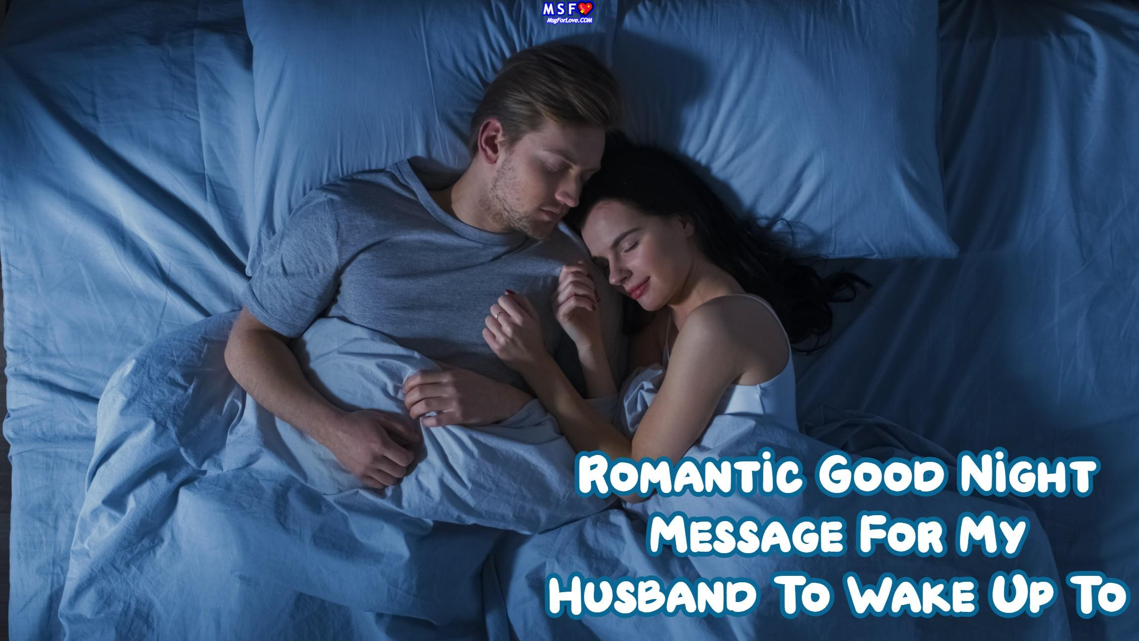 Good Night Message For Husband