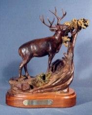 Big Buck Country - Bill Nebeker Western Wild Life Bronze Sculpture at Mountain Spirit Gallery in Prescott, Arizona