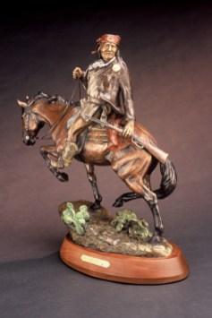 Geronimo - Kliewer Bronze Apache Sculpture at Mountain Spirit Gallery in Prescott, Arizona