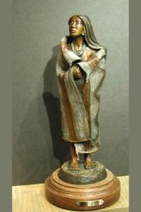 First Light - Kliewer Bronze Native American Sculpture at Mountain Spirit Gallery in Prescott, Arizona