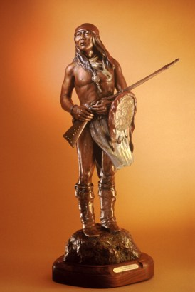 Chiricahua - Kliewer Chiricahua Apache Bronze Sculpture at Mountain Spirit Gallery in Prescott, Arizona