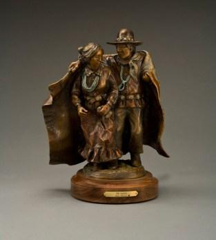 The Dance - Kliewer Woman Western Bronze Sculpture By Susan Kliewer at Mountain Spirit Gallery in Prescott, Arizona