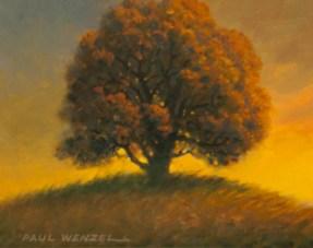Old Oak Tree at Sunset- Paul Wenzel