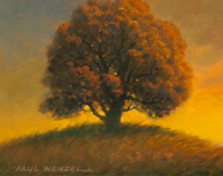 Old Oak Tree at Sunset- Paul Wenzel