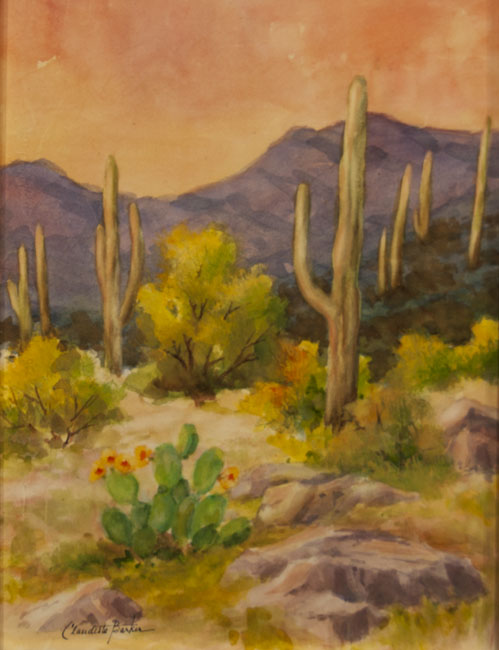 Sunny Southwest - Watercolor 12X9 $450.00