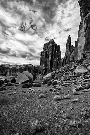 Monument Valley Rocks B&W