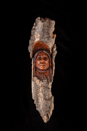 Black Tail-Cottowood Bark Carving-15x4x2.5 inches-$325.00