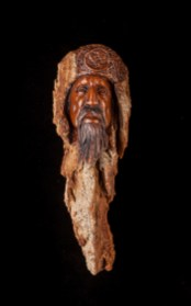 Wulf Gunderson-Cottonwood Bark Carving-9x3.5x3 inches-$300.00