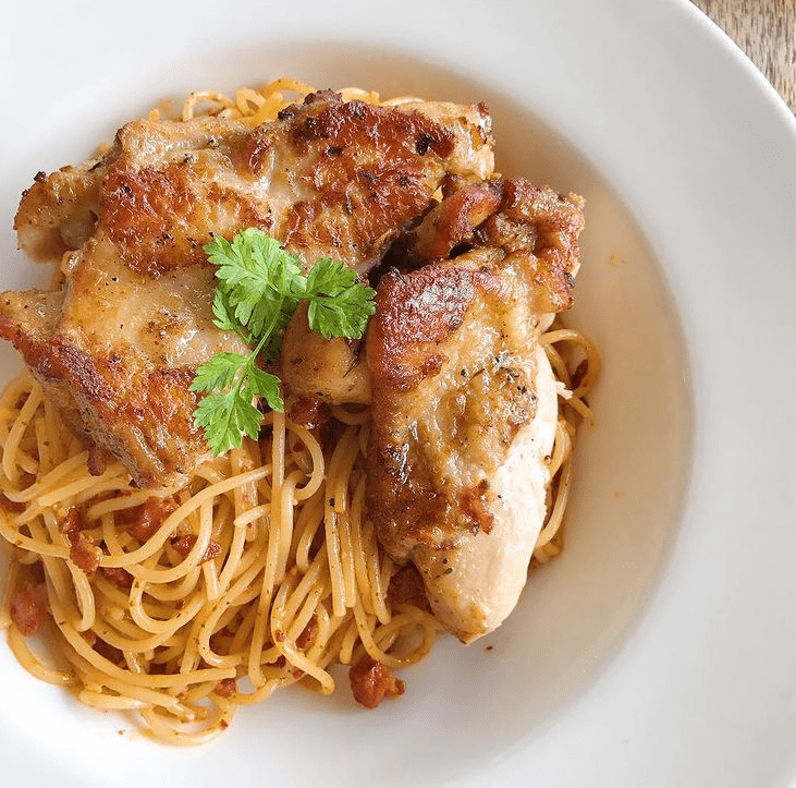 PASTA: Apart from burgers, there are also pastas to indulge in