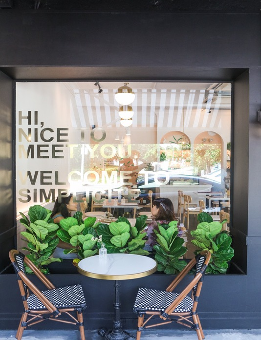 SIMPLICITE CAFE: The cafe is inspired by Parisian cafe scene