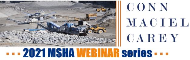 2021 MSHA Webinar Series