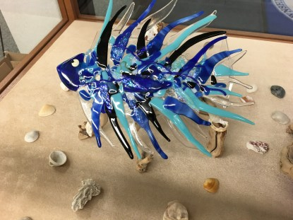 Kathi Hecht, fused glass fish