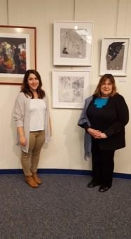 Artist Erin Barach and Committee Chair Laraine Barach