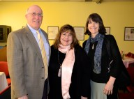 Dr Miron, MHS Principal, Laraine Barach, AAC Chair, and Kathleen Harte Gilsenan, MHS AP Art instructor