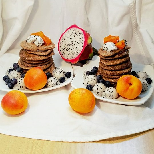 Inspiration Board - Treat yourself to a delicious, vegetarian, gluten free breakfast (with vegan option). Mini buckwheat pancakes