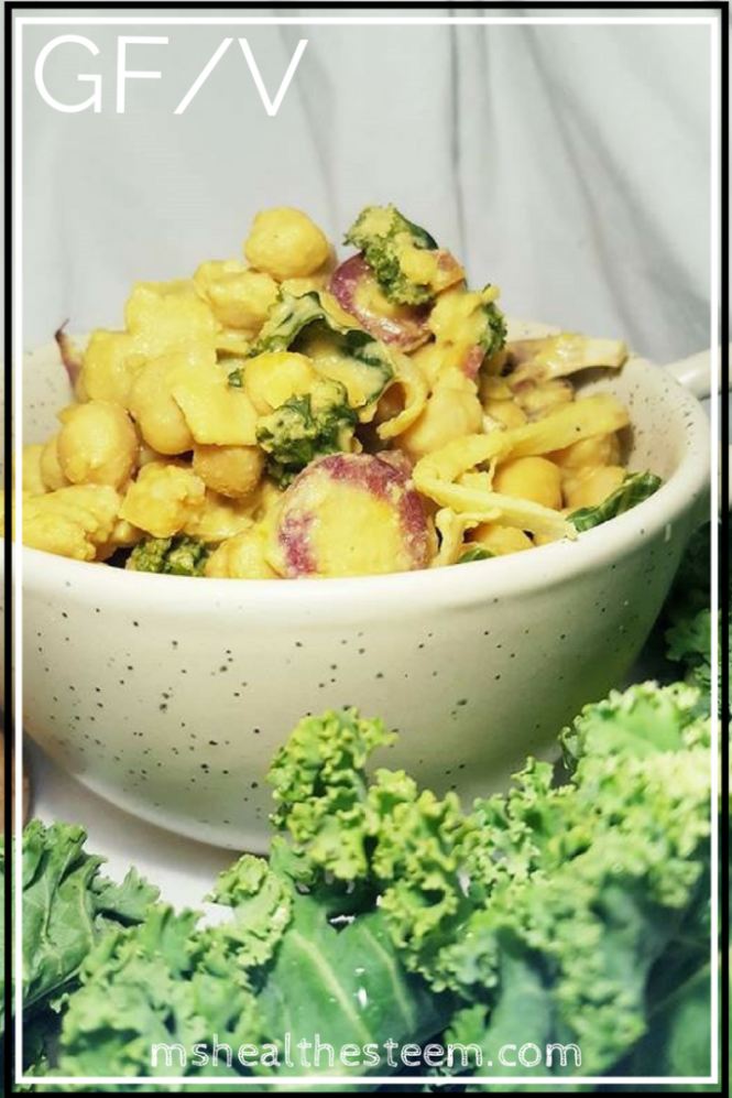 Dairy Free doesn't mean saying goodbye to cheesy flavour! Try this healthy, delicious Vegan Cheesy Chickpea Recipe and enjoy something cheesy but dairy free.