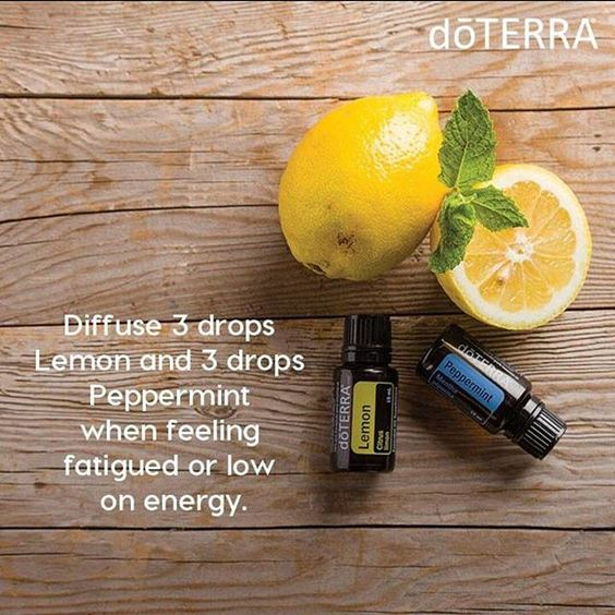 Inspiration Board - doTERRA Essential Oils Diffuser Blend - Peppermint Essential Oil and Lemon Essential Oil. A great pick me up.