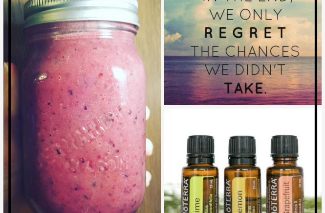 Your Monday Inspiration Board - Inspirational Quotes, Aromatherapy with doTERRA Essential Oil Diffuser Blend, an Awesome, Vegan, Gluten Free Very Berry Smoothie, and a DIY Homemade Buzzle Bath. Plus, Get a Free Self Care Routine Planner.