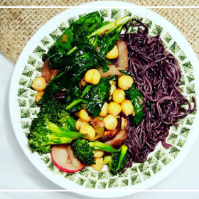 A delicious Sweet and Sour Miso Veggie Stir Fry that's not only yummy but great for your gut health. This recipe is vegan, gluten free and refined sugar free.