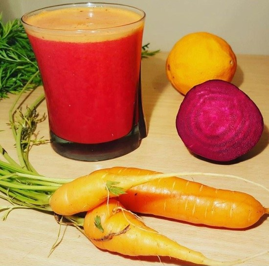 Inspiration Board - A Glowing, Refreshing Homemade Red Juice