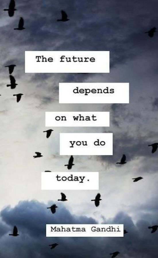 Inspiration Board - Inspirational Quotes. The Future Depends on What You Do Today