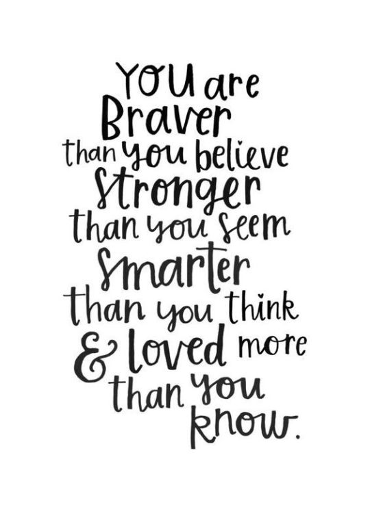 Inspiration Board - Inspirational Quotes. You are Braver than you Believe