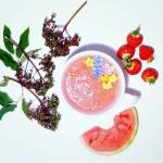 4 Simple Healthy Smoothie Recipes, For Breakfast or Dessert - Watermelon Strawberry Smoothie, Vegan, Gluten Free, Dairy Free, Refined Sugar Free.