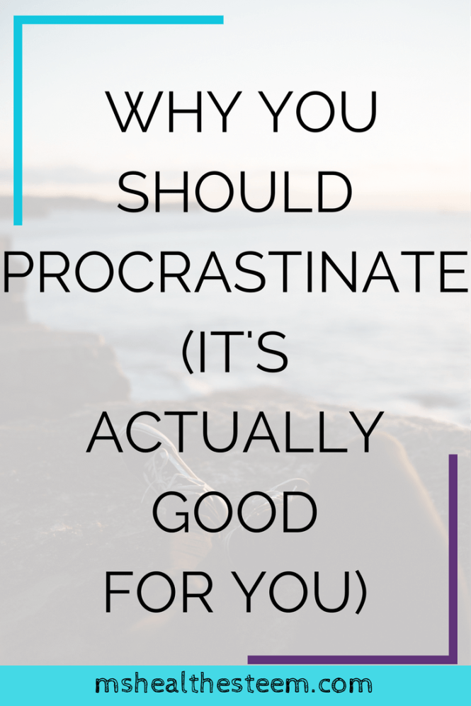 Why You Shouldn't Stop Procrastinating (It's Actually Good For You) – Reduce stress, anxiety and even depression, boost creativity and (shockingly) get more done by embracing procrastination. Click through for the post. You can read it while you procrastinate ;)