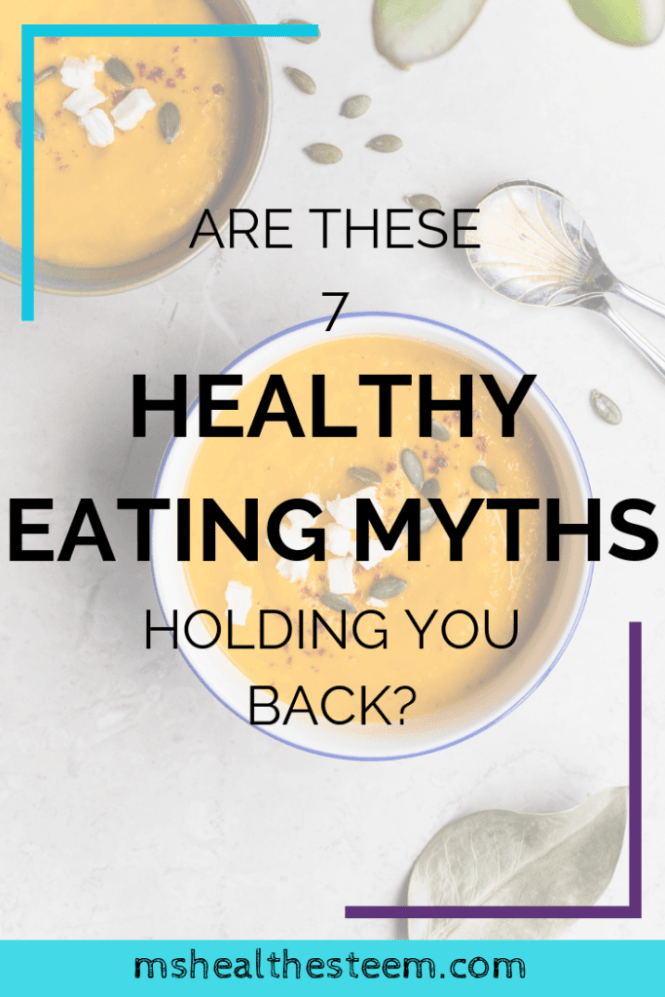 Are These Healthy Eating Myths Holding You Back? | Need some healthy eating motivation but feeling totally uninspired because healthy diets sound so boring? I hear ya! Which is why we're busting some healthy eating myths. And loading up on a ton of healthy recipes too. Get all the deets and a free Healthy Dessert Recipe E-Book right here... #healthyeating #healthydiet #healthylifestyle