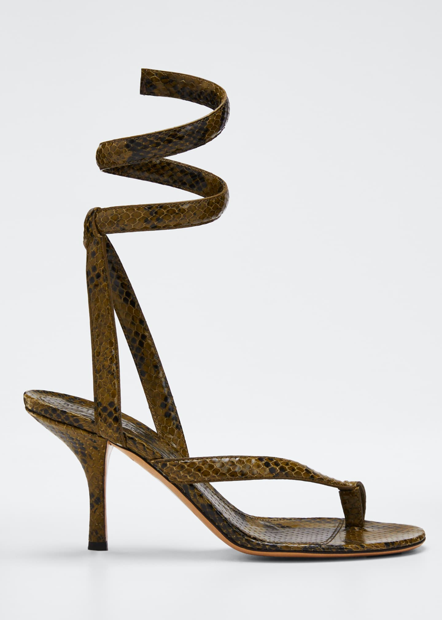 Bottega Veneta Python coil Sandal