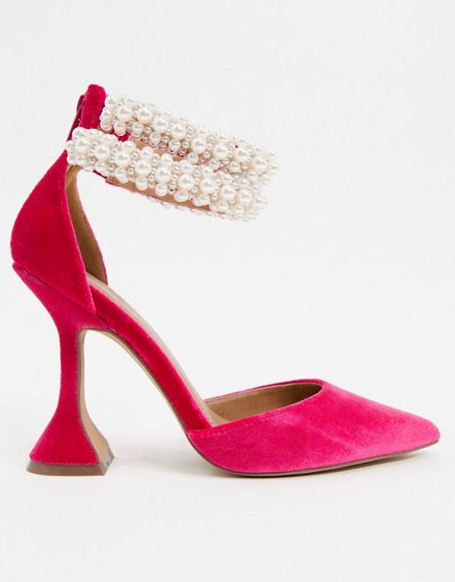 Promise Me Pink Velvet Heel
