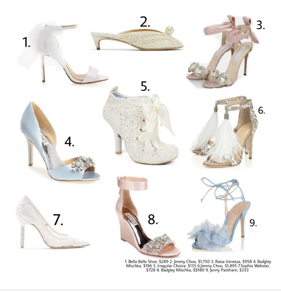 Bridal heels to wear to your summer wedding.