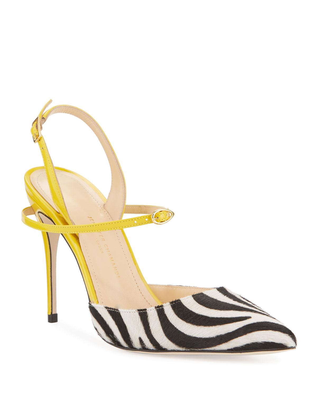 Jennifer Chamandi zebra slingback